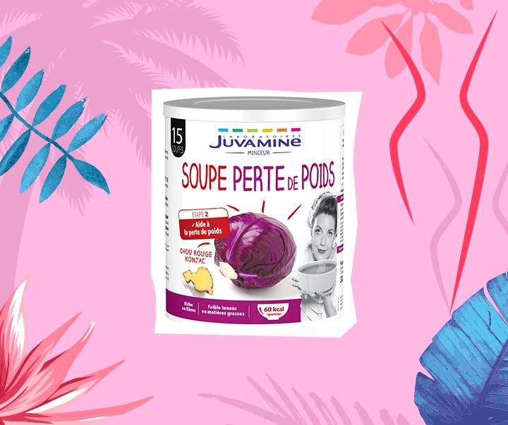Soupe perte de poids + fond rose